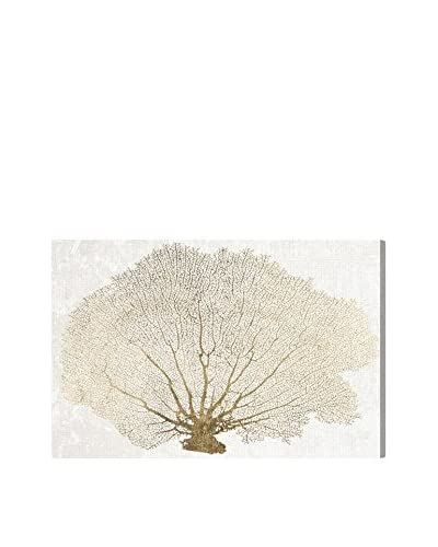 Oliver Gal Gold Coral Fan Canvas Art