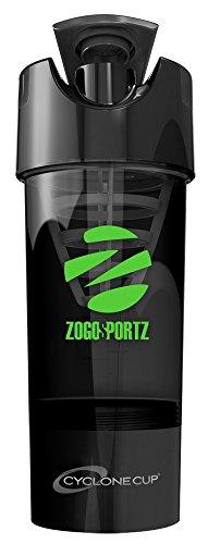 ZogoSportz Cyclone Cup Stealth Black - Neon Green Logo 1 - 20oz. Cup