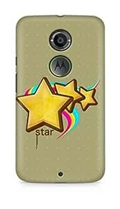 Amez designer printed 3d premium high quality back case cover for Motorola Moto X (2nd Generation) (Stars)