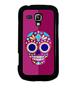Colourful Skull 2D Hard Polycarbonate Designer Back Case Cover for Samsung Galaxy S Duos S7562