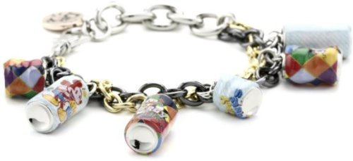 Disney Couture Disney Couture by gorgeous colorful Mickey bottle pattern can charm bracelet ladies ' [parallel import goods]