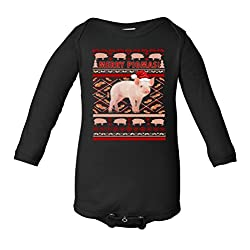 Merry Pigmas Christmas Pig Ugly Sweater Infant Long Sleeve Bodysuit