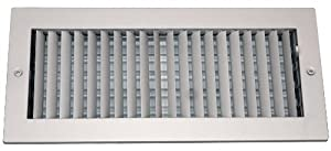 Speedi-Grille SG-612 ASD 6-Inch by 12-Inch Soft White Steel Ceiling or Wall Register with Adjustable Single Deflection Diffuser