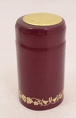 1 X Burgundy Gold Grapes PVC Shrink Capsules-30 Per Bag