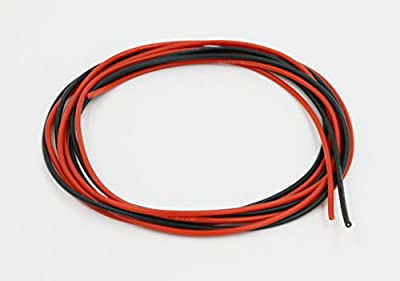 BNTECHGO 18 Gauge Silicone Wire Soft and Flexible 18 AWG Silicone Wire 150 Strands of copper wire 5 ft Black And 5 ft Red Super low electrical resistance for a highly efficient connection