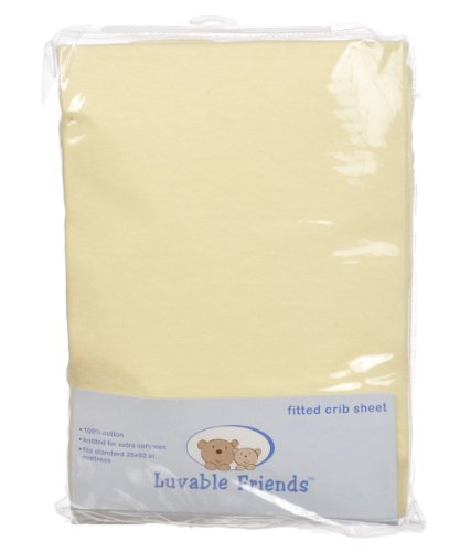 Luvable Friends Fitted Crib Sheet - 1
