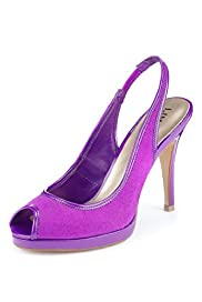 Limited Collection Peep Toe Stiletto Heel Slingback Shoes