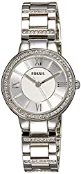 Fossil Virginia Analog Silver Dial Womens Watch - ES3282