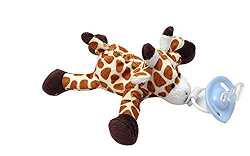 CuddlesMe Plush Giraffe Toy with Detachable Pacifier, FDA Listed Medical Device