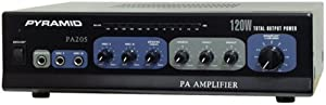 Pyramid PA205 Amplifier With Microphone Input (120-Watt) from Pyramid