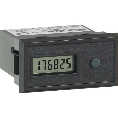 Red Lion Cub3T4 General Purpose Miniature Electronic Timer Digital Panel Meter With Front Panel And Remote Reset, 6 Digit Lcd Display, 0.1 Hour Input Range