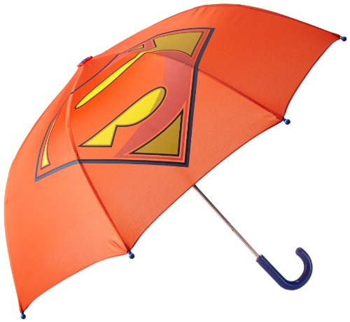 Western Chief Little Boys' Superman Forever Umbrella, Red, One Size front-1042275