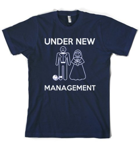 Under New Management Wedding T Shirt funny Groom shirt bachelor party tee