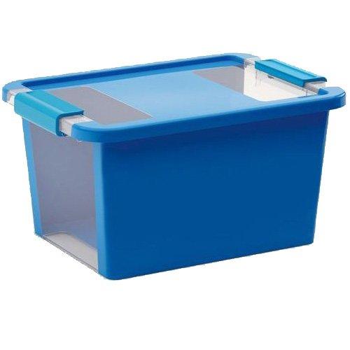 Kis 8452000 0454 01 Bi Box-Scatola portaoggetti in plastica, 11 L, colore: blu/trasparente