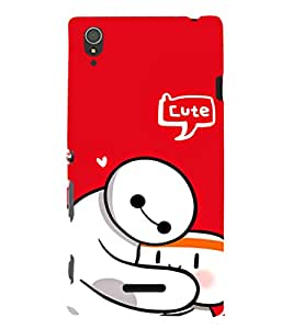 EPICCASE Cute Teddy cover Mobile Back Case Cover For Sony Xperia T3 (Designer Case)