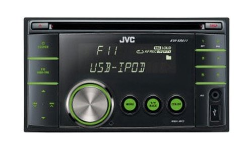 JVC KW-XR611 Double DIN iPod Ready/USB/iPod/CD/MP3 Radio Tuner
