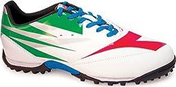 Diadora DD-NA 2 R Turf Soccer Shoe, White/Green/Red, 10 M US