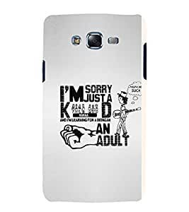 GADGET LOOKS PRINTED BACK COVER FOR SAMSUNG GALAXY E5 MULTICOLOR