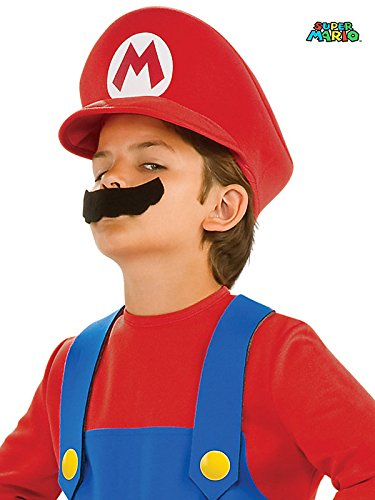 Kids Super Mario Hat and Mustache Set