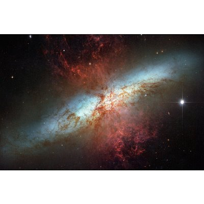 Happy Sweet Sixteen Hubble Telescope Starburst Galaxy M82 Space Photo Art Poster Print - 11X17 Custom Fit With Richandframous Black 17 Inch Poster Hangers