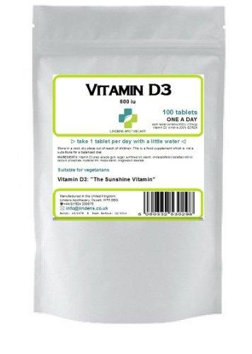 Vitamin D-3 600Iu (300% Rda) 100 Tablets