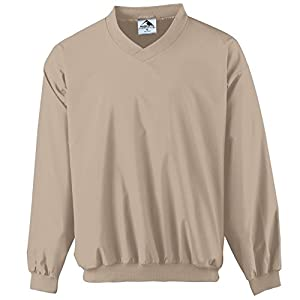 Augusta Sportswear MEN'S MICRO POLY WINDSHIRT/LINED 4XL Stone