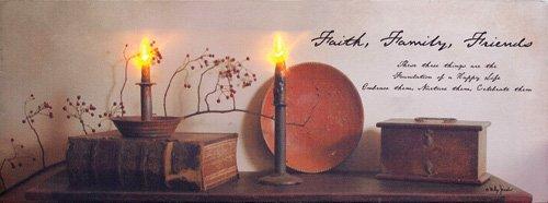 Radiance Led Lighted Canvas Print Country Artwork Faith Family Friends Primitive Wall Decor