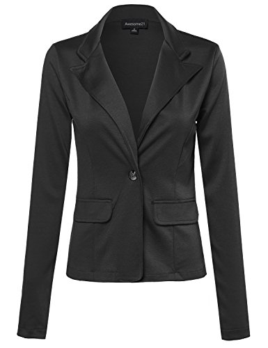 Single-Breasted Knit Blazer Black Size S (Get Ready In The Morning Chart compare prices)