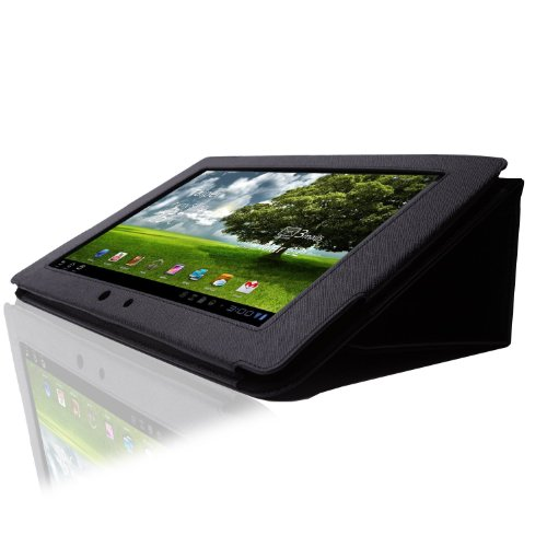 ASUS Eee Pad Transformer Case for Asus Eee Pad Tablet TF101 Stand Leather Folding Stand Case Cover - Black