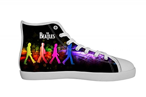 Rock Band The Beatles Women's Canvas Shoes Women White High Top Canvas Shoes-9M US