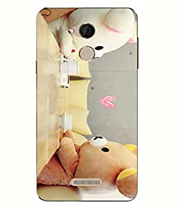 Case Cover Teddy Bear Printed Multicolor Back Cover For Coolpad Note 5