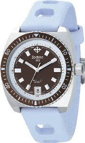 Zodiac Women's Sea Dragon Rubber Sport Brown Dial Date Watch ZO2237