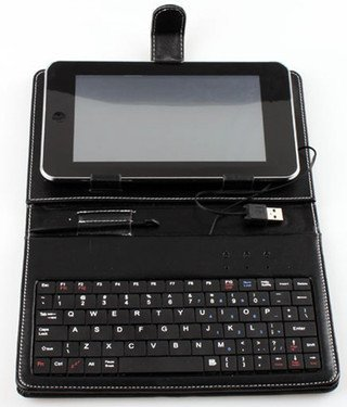 SANOXY Slim 7 Inch Faux Leather Keyboard Case