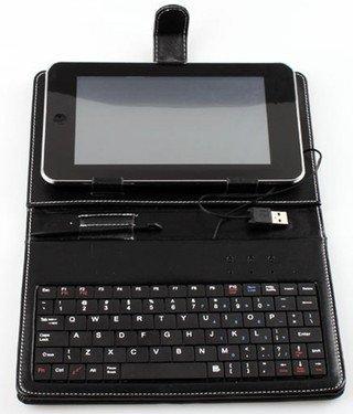 SANOXY Slim 7 Inch Faux Leather Keyboard Case