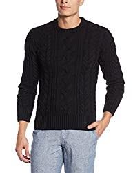 Superdry Men's Synthetic Sweater (5054265658143_M61283KNF3_S_Black)
