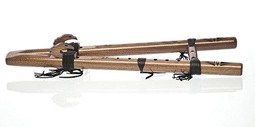 knorr-prandell-twintail-hawk-flute-g-minor-pentatonic-walnut-frame-with-de-en-of-instructions-dvd-en