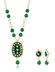 Ava Traditional Jewellery Set For Women (Green) (S-GA-7502)