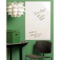 Grasshopper Whiteboard Wall Sticker Removable Vinyl Sticker Decal With 1 FREE Pen, Use Home School Office College Room Kitchen Size (45 x 200 cm)