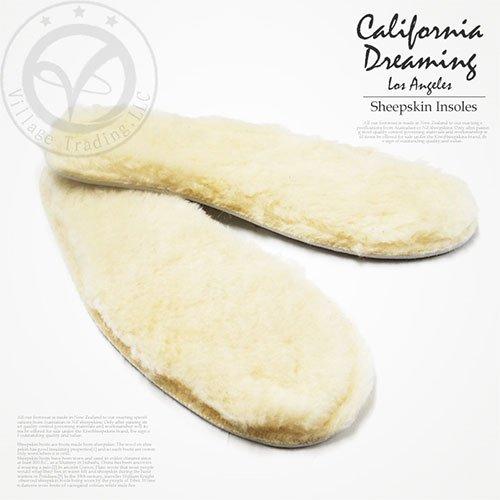 【CALIFORNIA DREAMING】リアルムートン インソール//レディース靴 インナー/ムートン ブーツ用//カリフォルニアドリーミング/WOMENS SHEEPSKIN INSOLE/シークレットソール / 中敷/ボリュームアップ//保温効果 通気性有り あったか スニーカー[メール便可]