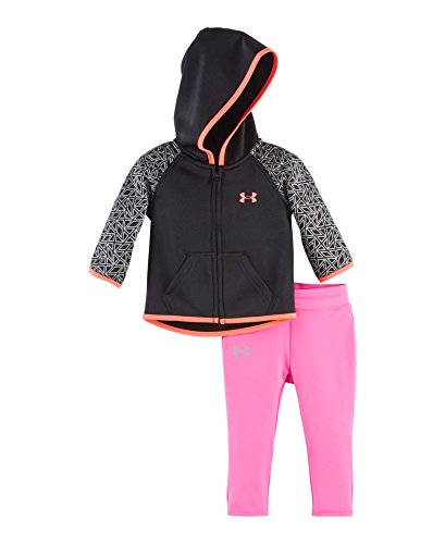 Under Armour Baby' Big Logo Hoodie and Pant Set, Black, 18 Months