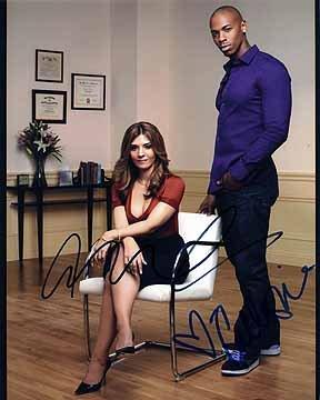 NECESSARY ROUGHNESS (Callie Thorne & Mehcad Brooks) 8x10 Cast Photo
