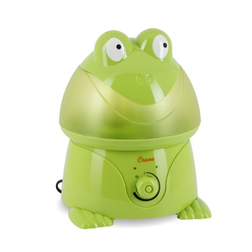 Crane Adorable Ultrasonic Cool Mist Humidifier with 2.1 Gallon Output per Day - Frog