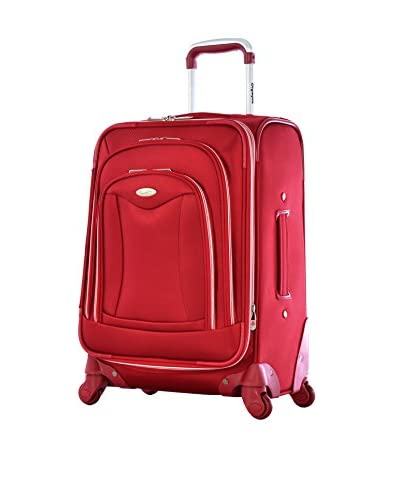 Olympia Luxe 21 Expandable Carry-On Upright, Red
