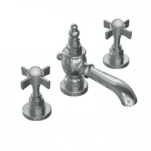 Jado 845003.444 Savina Widespread Lavatory Faucet with Cross Handle, Antique Nickel