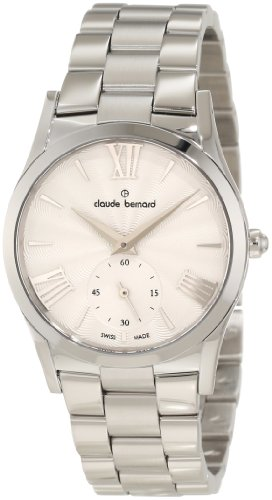 Claude Bernard Women's 23092 3 AIN Classic Ladies Silver Sunray Dial Stainless Steel Watch