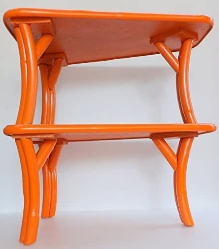 Mid century end table orange bamboo formica for Amazon mid century modern furniture