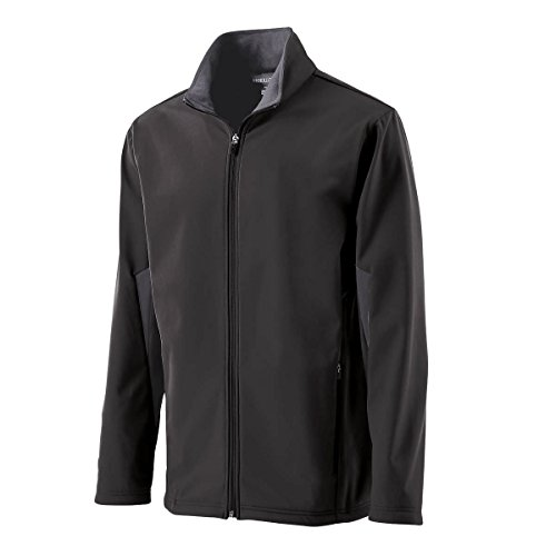 Holloway Boy's Bonded Soft Shell Revival Jackets X-Large Black/Graphite