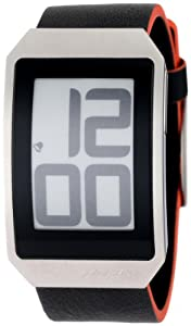 Phosphor Unisex DH02 Digital Hour E-INK Curved Leather Band Watch