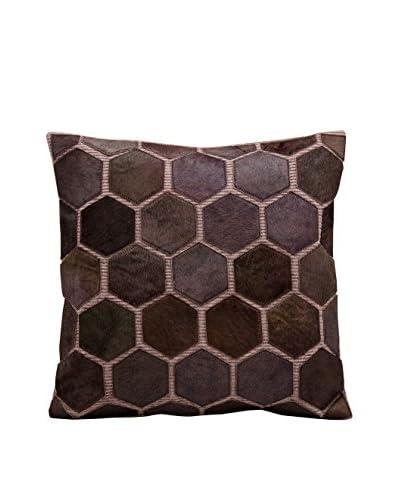 Nourison Leather Hide Pillow, Lilac
