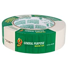 Duck Brand 394697 1.41-Inch by 60-Yard General Purpose Masking Tape, Beige